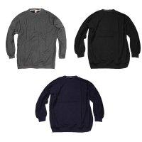 Basic Sweatshirt in 3 Farben Schwarz 12XL