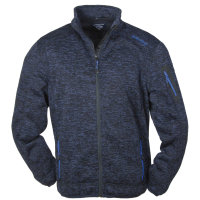 Big Size Fleecejacke in Strickoptik von Brigg | Blau