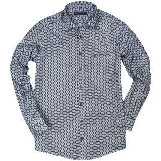 buy online 4cff1 2c90e Hemd Lang kreativ Muster blau Casamoda