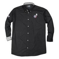 XXL Redfield Langarmhemd Button Down schwarz