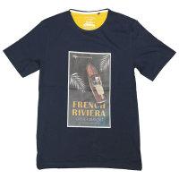 Hajo T-Shirt in blau mit Druck, Übergröße