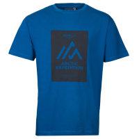 Allsize T-Shirt mit blauem Print in...