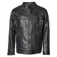 Schwarze Lederjacke von Allsize in großen...
