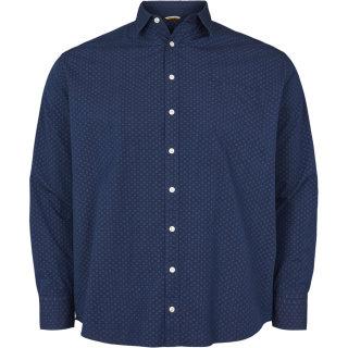 North56°4 Langarm Hemd in blau
