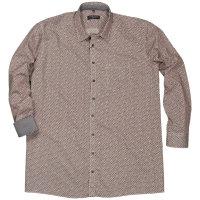 Casamoda XXL Langarm Hemd mit Minimalmuster