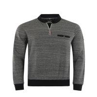 Hajo Sweatshirt mit Zipp in Übergröße...