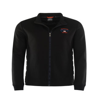 Hajo gesteppte Sweatshirtjacke in Übergröße | Schwarz