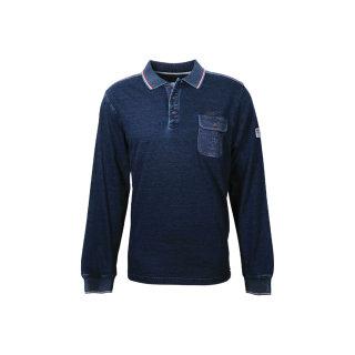 Polo-Sweatshirt von Monte Carlo  in Übergröße    Jeansblau