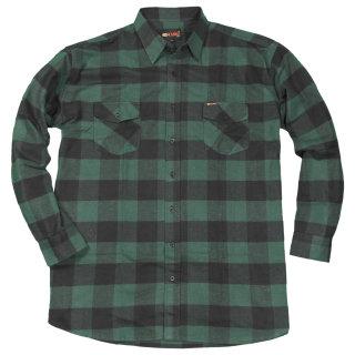 Grünes Holzfällerhemd von Kamro in Übergröße