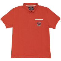 Ahorn Sport XXL Poloshirt mit kurzem Arm | Terracotta