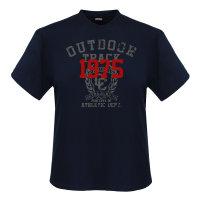 Navy Adamo T-Shirt in Übergröße | blau