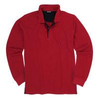 Rotes Sweatshirt mit Kragen von Adamo  ...