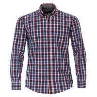 Casamoda Hemd mit langem Arm   blau rot kariert