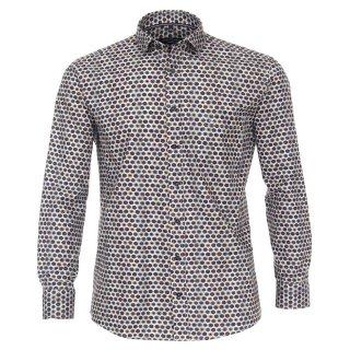 Bunt gemustertes Langarm Hemd von Casamoda | Übergröße