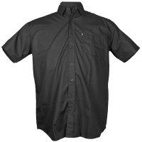 Schwarzes Kurzarm Cityhemd von Kamro