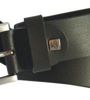 Gürtel Vollrindleder Schwarz 4 cm