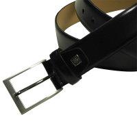 Klassischer Ledergürtel von Lindenmann in schwarz 3,5cm