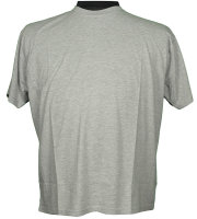 Graues Basic T-Shirt in Übergröße von...